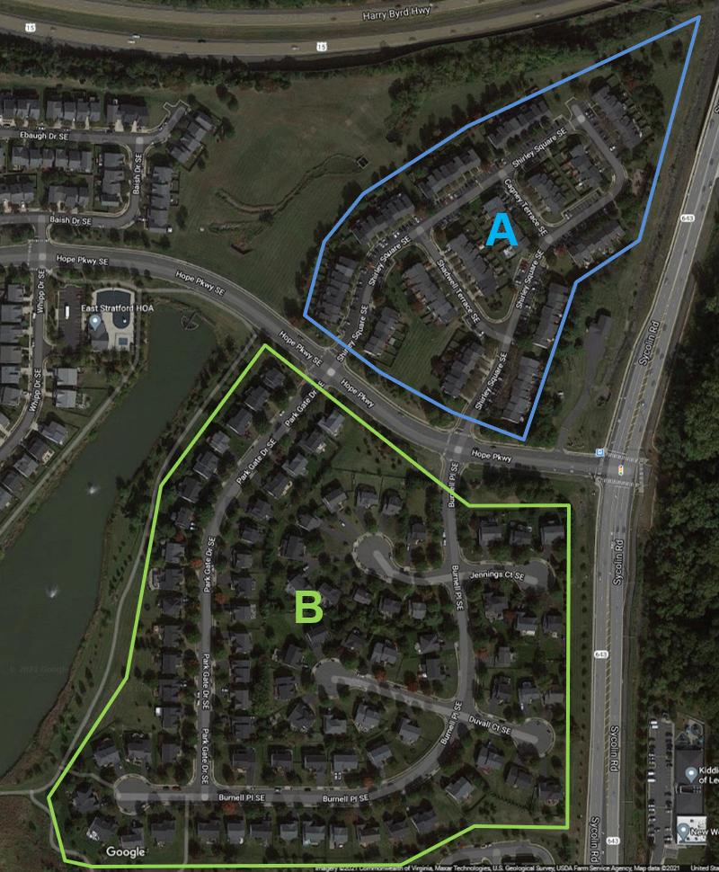 East Stratford HOA A & B Map