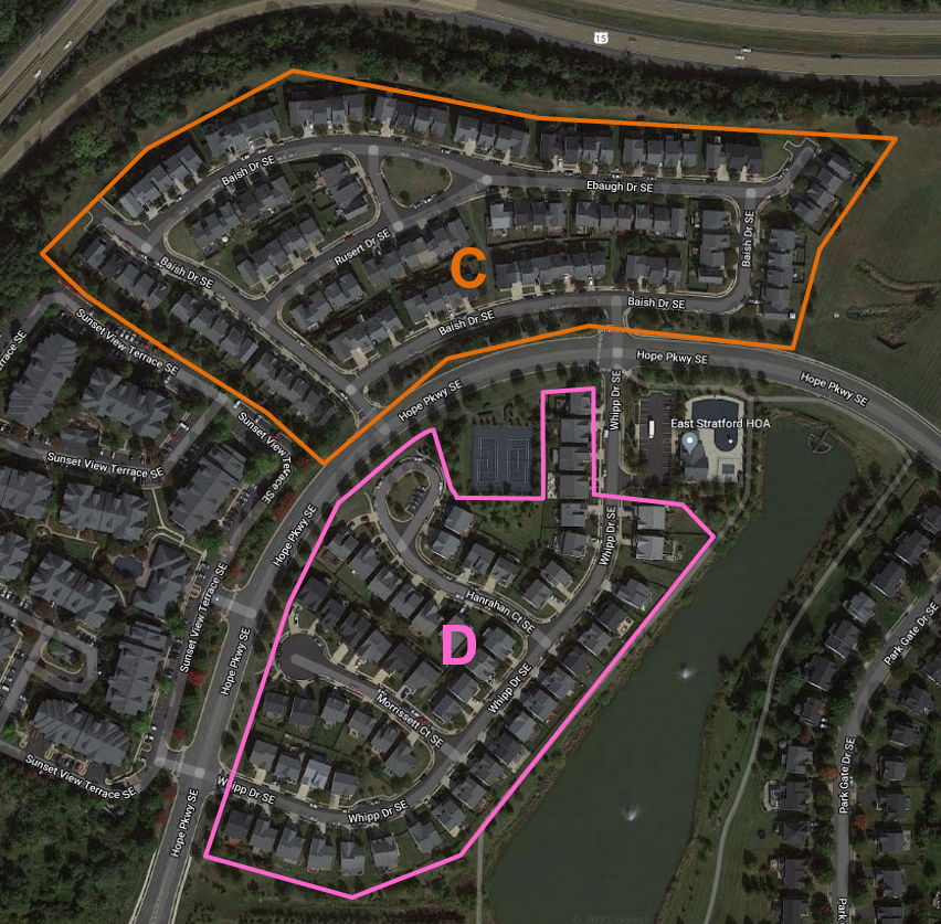 East Stratford HOA C & D Map